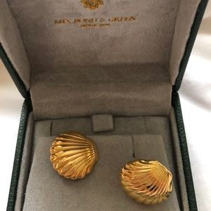 Lux and Bond 14k gold shell earrings